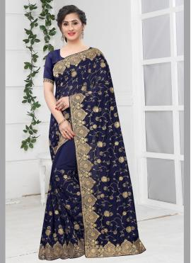 Exceptional Embroidered Bollywood Saree