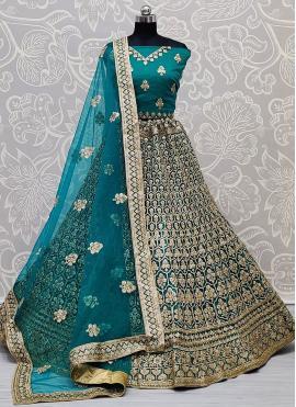 Exceptional Net Embroidered Lehenga Choli