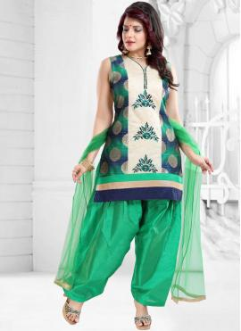 Exciting Green Designer Patiala Suit