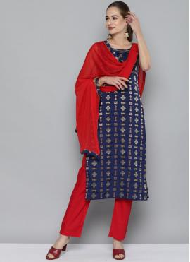 Exciting Weaving Silk Party Wear Kurti