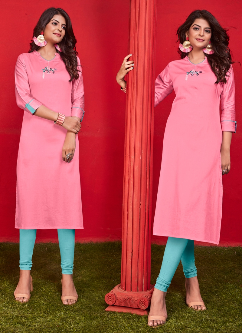 Exotic Cotton Embroidered Casual Kurti