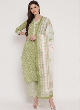 Exotic Printed Multi Colour Cotton Trendy Salwar Kameez