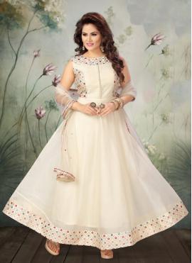Exquisite Art Silk Anarkali Salwar Kameez