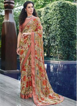 Exquisite Georgette Designer Saree