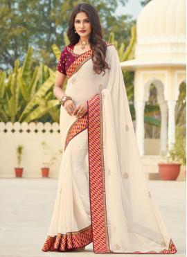 Exquisite Patch Border Designer Saree