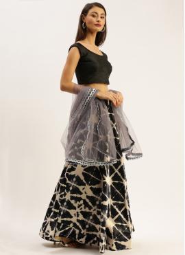 Exquisite Printed Satin Silk A Line Lehenga Choli