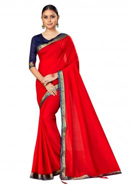 Extraordinary Red Contemporary Saree