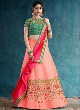 Fab Silk Embroidered Designer Lehenga Choli