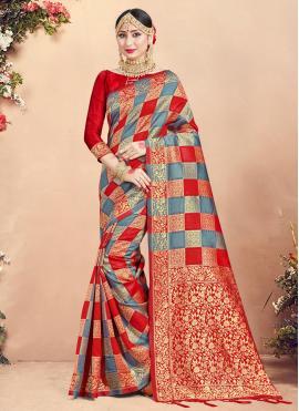 Fabulous Art Banarasi Silk Ceremonial Traditional Saree