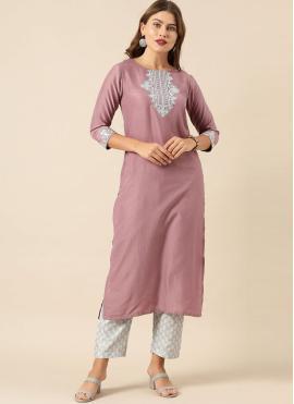 Fancy Silk Designer Kurti in Purple