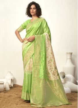 Fantastic Art Silk Fancy Green Designer Traditional Saree