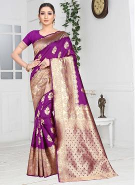 Fantastic Purple Contemporary Saree