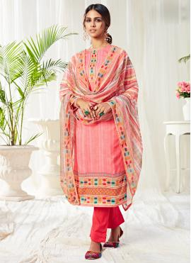 Fascinating Cotton Festival Straight Salwar Suit