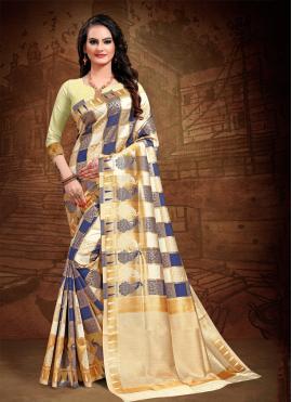 Fascinating Woven Multi Colour Art Silk Designer Saree