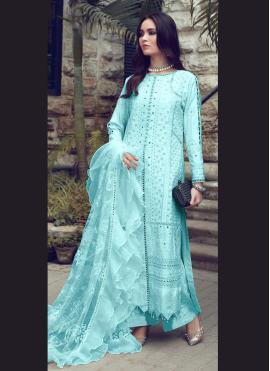 Fashionable Fancy Fabric Fancy Designer Straight Suit