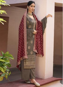 Fashionable Faux Chiffon Festival Designer Palazzo Salwar Suit