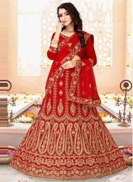 Fashionable Velvet Lehenga Choli