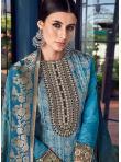 Festal Blue Chanderi Designer Pakistani Suit - 1
