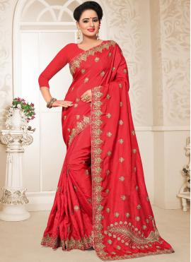 Fetching Patch Border Designer Traditional Saree