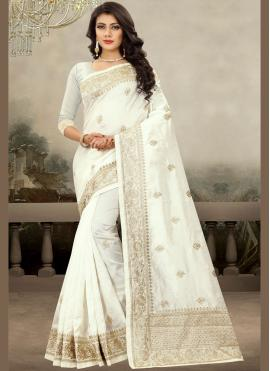 Fine Art Silk Embroidered Classic Designer Saree