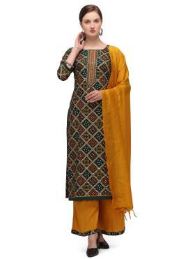 Fine Blended Cotton Designer Palazzo Suit