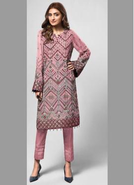Fine Embroidered Pink Designer Pakistani Salwar Suit