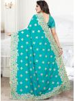 Firozi Embroidered Reception Traditional Saree - 2