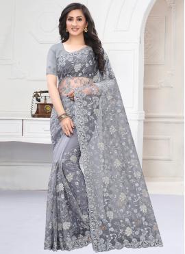 Flamboyant Resham Classic Saree