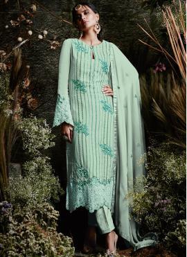 Flawless Faux Georgette Designer Pakistani Suit