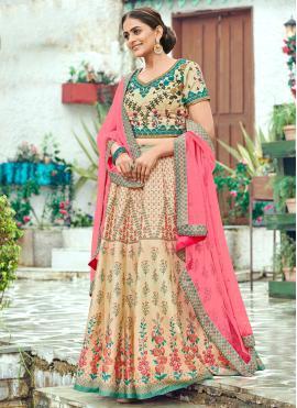 Flawless Multi Colour Silk Trendy Lehenga Choli