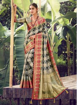 Floral Multi Colour Traditional Designer Saree