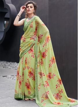 Georgette Multi Colour Printed Classic Saree