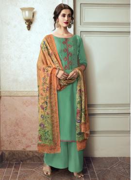 Gilded Embroidered Designer Pakistani Suit