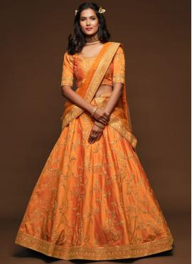 Gilded Orange Sangeet Lehenga Choli