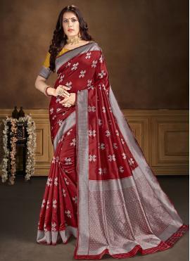 Girlish Banarasi Silk Casual Traditional Saree