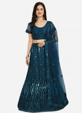Girlish Blue Lehenga Choli