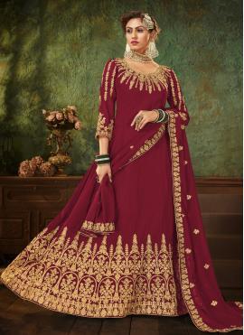Girlish Resham Ceremonial Floor Length Anarkali Suit
