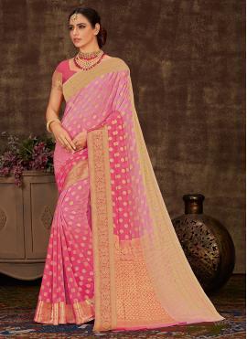Girlish Weaving Sangeet Shaded Saree