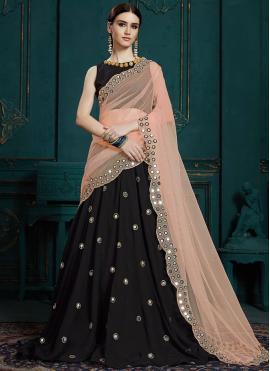 Glamorous Black Trendy Designer Lehenga Choli