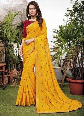 Glamorous Embroidered Designer Saree