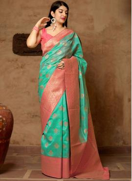 Gleaming Art Silk Woven Designer Traditional Saree