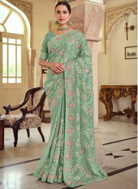 Gleaming Trendy Saree For Wedding
