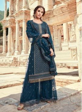 Glitzy Faux Georgette Designer Pakistani Suit