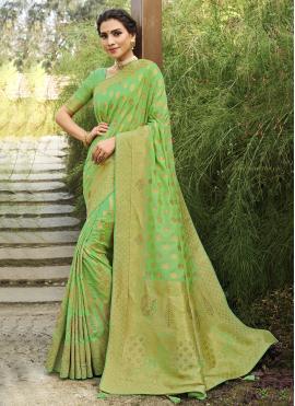 Glitzy Silk Traditional Designer Saree