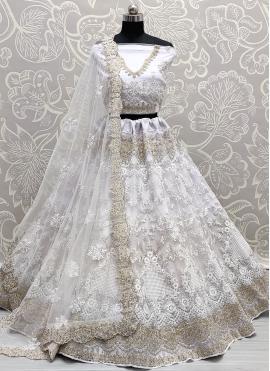 Glorious Off White Sangeet Lehenga Choli