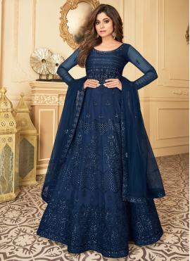 Glorious Resham Net Anarkali Suit