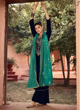 Glorious Velvet Embroidered Salwar Suit