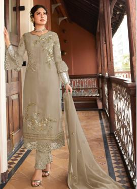Glossy Georgette Embroidered Salwar Kameez