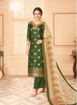 Glossy Jacquard Resham Palazzo Suit