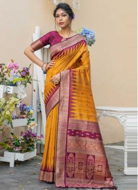 Glowing Weaving Designer Traditional Saree